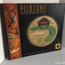 Discos de pizarra: PILOTONE. VINYLITE (NON-BREAKABLE) RECORDS. FAVORITE STRAUSS WALTZES. BLUE DANUBE. VIENNA LIFE. A112. Lote 219276255