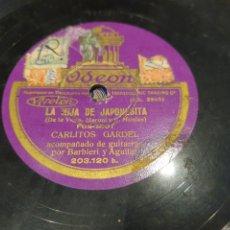 Discos de pizarra: 78 RPM MUY RARO, CARLITOS GARDEL. Lote 219354785