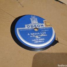 Disques en gomme-laque: TANGO DISCO DE PIZARRA GARDEL. Lote 219355226