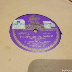 Discos de pizarra: TANGO, RARO CARLOS GARDEL. Lote 219355356