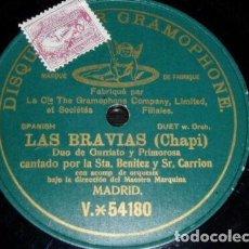 Discos de pizarra: DISCO 78 RPM - PREDOG DPG GREEN - BENITEZ - CARRION - LAS BRAVIAS - CHAPI - ESPAÑA - OPERA - PIZARRA. Lote 219364392