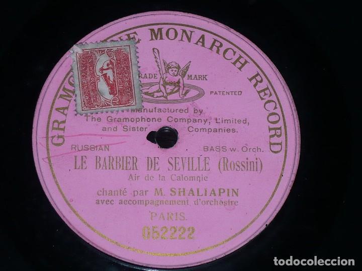 DISCO 78 RPM - PRE DOG GMR PINK - FEODOR CHALIAPINE - BARBIER DE SEVILLE - ROSSINI - RARO - PIZARRA (Música - Discos - Pizarra - Clásica, Ópera, Zarzuela y Marchas)