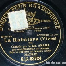Discos de pizarra: DISCO 78 RPM - PRE DOG DPG BLACK - LUCRECIA ARANA - JOTA - LA RABALERA - VIVES - ORQUESTA - PIZARRA. Lote 219370901