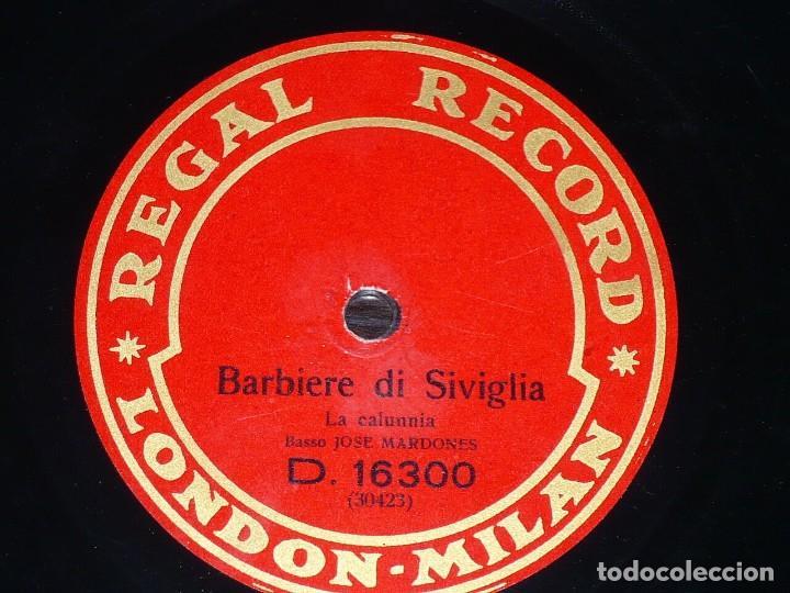 DISCO 78 RPM - REGAL - JOSE MARDONES - BARBIERE DI SIVIGLIA - ROSSINI - SIMON BOCCANEGRA - PIZARRA (Música - Discos - Pizarra - Clásica, Ópera, Zarzuela y Marchas)