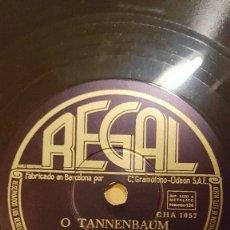 Discos de pizarra: DISCO 78 RPM - REGAL - ELISABETH SCHWARZKOPF - CORO - O TANNENBAUM - POPULAR - ALEMAN - PIZARRA. Lote 219468848