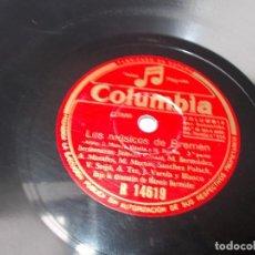 Discos de pizarra: DISCO DE PIZARRA LOS MÚSICOS DE BREMEN. Lote 219490377