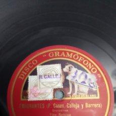 Discos de pizarra: DISCO DE PIZARRA FABRICADO POR COMPAÑÍA DEL GRAMÓFONO S.A.E. BARCELONA.. Lote 219664231