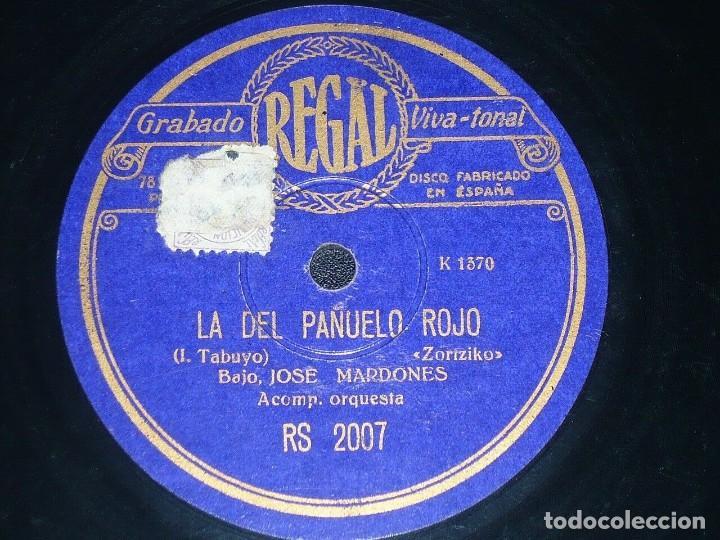 Discos de pizarra: DISCO 78 RPM - REGAL - JOSE MARDONES -ZORTZIKO - BEIN BATEAN LOYOLAN - OPERA - VASCO - PIZARRA - Foto 2 - 219815797