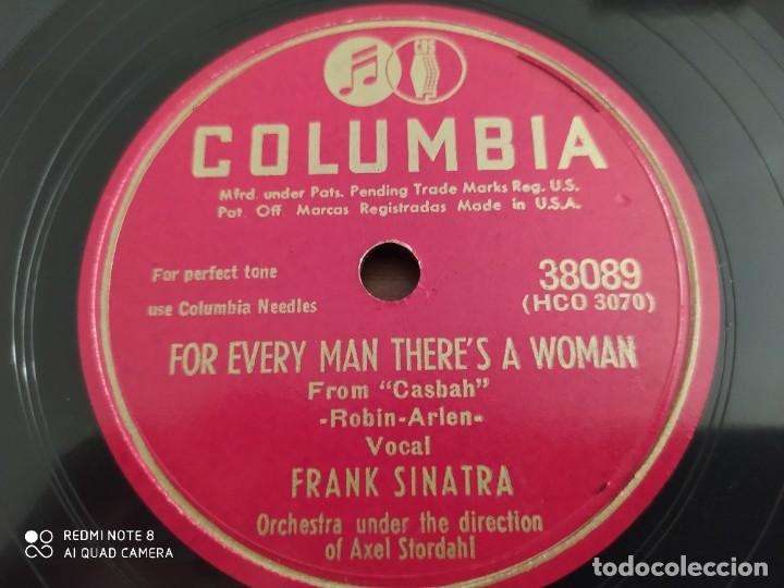 Discos de pizarra: FRANK SINATRA, ill make Up for everything, for every man theres a woman, disco de pizarra 78 rpm - Foto 2 - 220107732