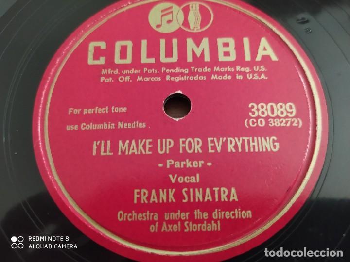 Discos de pizarra: FRANK SINATRA, ill make Up for everything, for every man theres a woman, disco de pizarra 78 rpm - Foto 4 - 220107732
