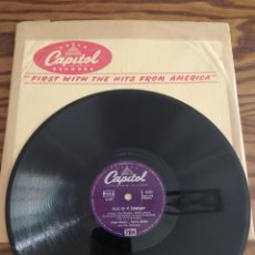 Discos de pizarra: FRANK SINATRA, NOT AS A STRANGER, HOW COULD YOU DO A THING LIKE THAT TO ME, DISCO DE PIZARRA 78 RPM. Lote 220108301