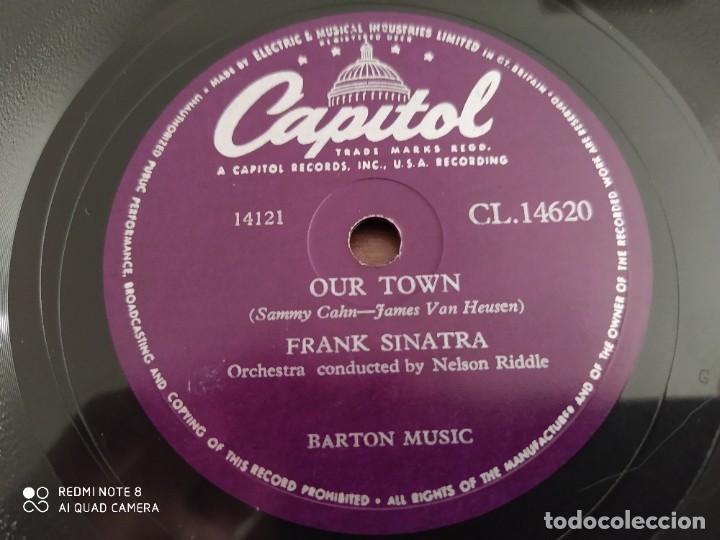 Discos de pizarra: FRANK SINATRA, our town, The impatient years, disco de pizarra 78 rpm - Foto 2 - 220109218
