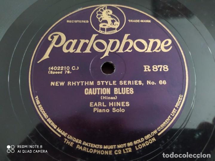 Discos de pizarra: New rhythm style series 65 66, Caution blues Earl Hines, sweet Sue Just you, disco de pizarra 78 rpm - Foto 2 - 220193773