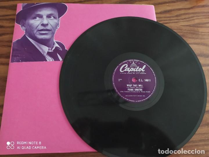 Discos de pizarra: FRANK SINATRA, weep they Will, The tender trap , disco de pizarra 78 rpm - Foto 2 - 220195037
