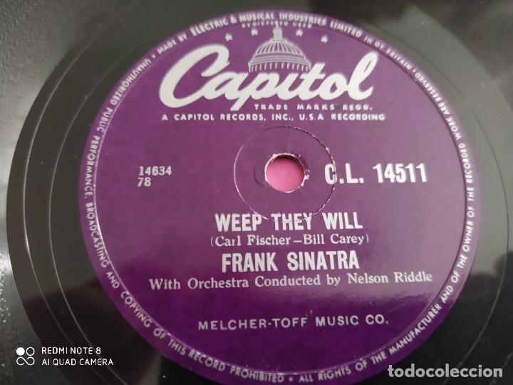 Discos de pizarra: FRANK SINATRA, weep they Will, The tender trap , disco de pizarra 78 rpm - Foto 3 - 220195037