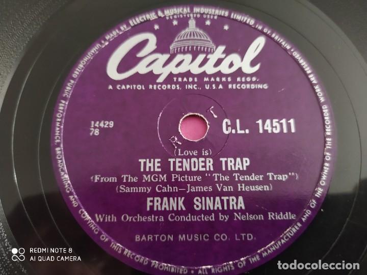 Discos de pizarra: FRANK SINATRA, weep they Will, The tender trap , disco de pizarra 78 rpm - Foto 4 - 220195037