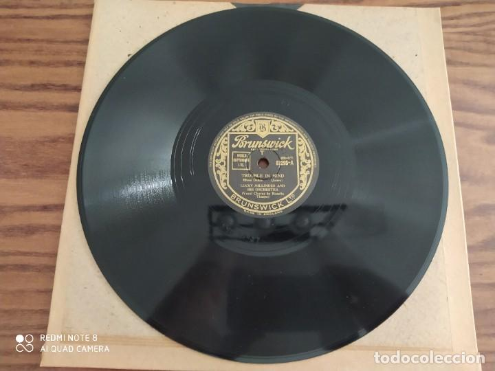 LUCKY MILLINDER AND HIS ORCHESTRA, BIG FAT MAMA, TROUBLE IN MIND, DISCO DE PIZARRA 78 RPM (Música - Discos - Pizarra - Jazz, Blues, R&B, Soul y Gospel)