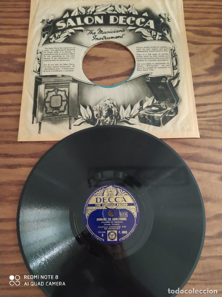 Discos de pizarra: Año 1935, muy raro, REGINALD FORESYTHE, landescape, homage to armstrong, disco de pizarra 78 rpm - Foto 4 - 220252042