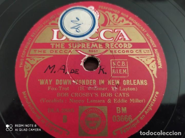 Discos de pizarra: Bob crosbys Bob Cats, tin roof blues, way down wonder in new orleans, disco de pizarra 78 rpm - Foto 3 - 220252946