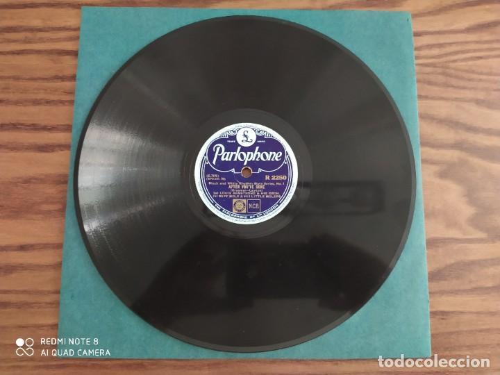 LOUIS ARMSTRONG, AFTER YOU'VE GONE, BASIN STREET BLUES, DISCO DE PIZARRA 78 RPM (Música - Discos - Pizarra - Jazz, Blues, R&B, Soul y Gospel)