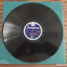 Discos de pizarra: LOUIS ARMSTRONG, AFTER YOU'VE GONE, BASIN STREET BLUES, DISCO DE PIZARRA 78 RPM. Lote 220254381