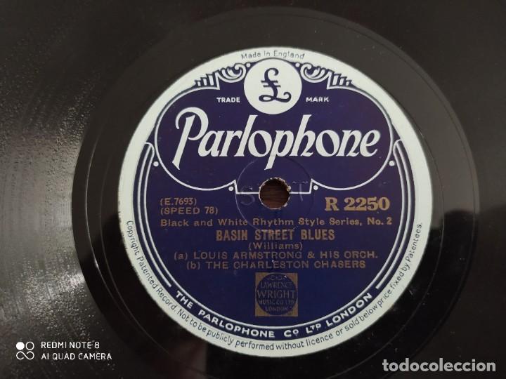 Discos de pizarra: LOUIS ARMSTRONG, after youve gone, basin street blues, disco de pizarra 78 rpm - Foto 3 - 220254381