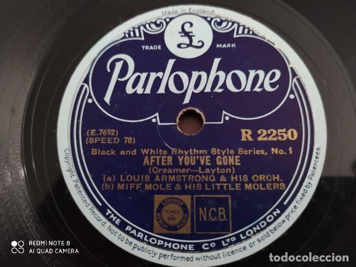Discos de pizarra: LOUIS ARMSTRONG, after youve gone, basin street blues, disco de pizarra 78 rpm - Foto 4 - 220254381