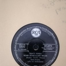 Discos de pizarra: DISCO PIZARRA 78RPM ELVIS PRESLEY-ALL SHOOK UP/THATS WHEN YOUR HEAR( RARA VERSION IMPRESA EN ALEMAN. Lote 220491851