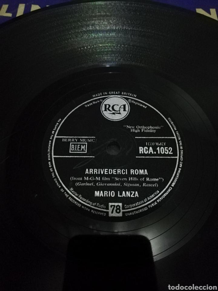 Discos de pizarra: Disco de 78rpm Mario Lanza-Arrivederci Roma/Never till Now. - Foto 2 - 220529552