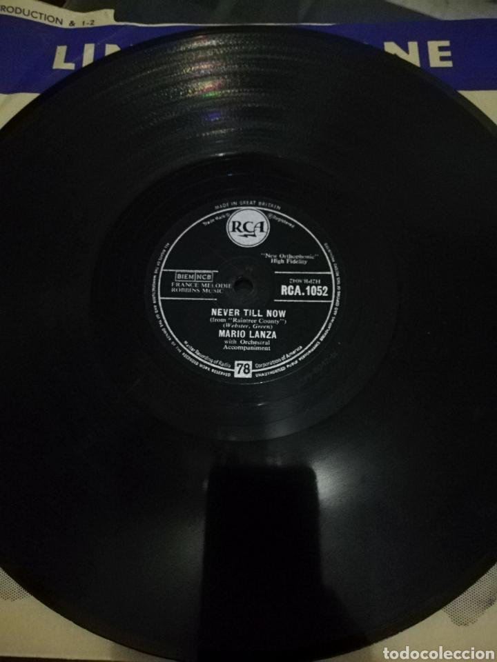 Discos de pizarra: Disco de 78rpm Mario Lanza-Arrivederci Roma/Never till Now. - Foto 3 - 220529552