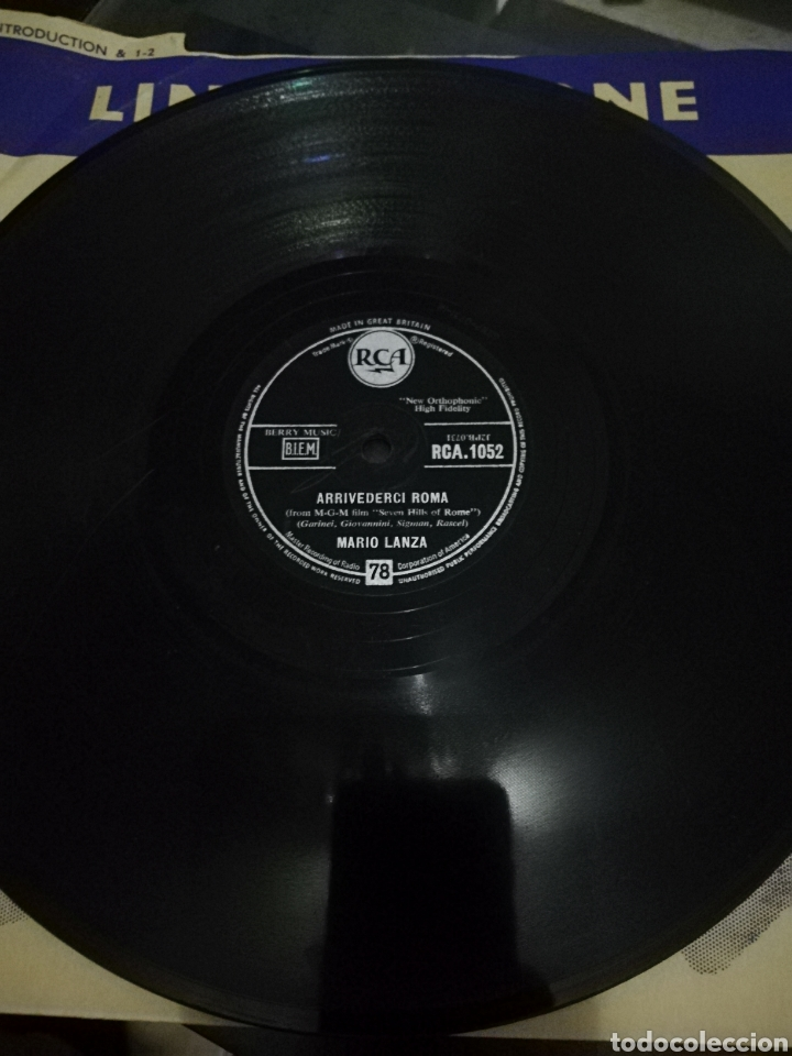 DISCO DE 78RPM MARIO LANZA-ARRIVEDERCI ROMA/NEVER TILL NOW. (Música - Discos - Pizarra - Solistas Melódicos y Bailables)