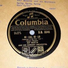 Discos de pizarra: DISCO DE PIZARRA RAY MARTIN COLUMBIA. Lote 220548997