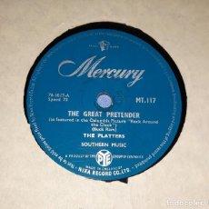 Discos de pizarra: DISCO DE PIZARRA THE PLATTERS MERCURY. Lote 220549785