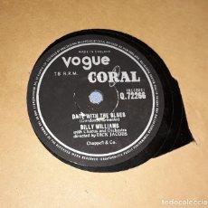 Discos de pizarra: DISCO DE PIZARRA BILLY WILLIAMS VOGUE CORAL. Lote 220551558