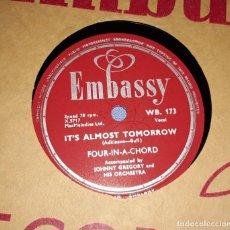 Discos de pizarra: DISCO DE PIZARRA JOHNNY GREGORY AND HIS ORCHESTA EMBASSY. Lote 220555527