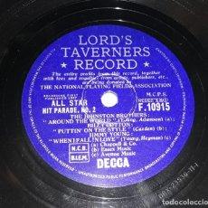 Discos de pizarra: DISCO DE PIZARRA LORD'S TAVERNERS RECORD DECCA. Lote 220556201