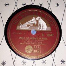 Discos de pizarra: DISCO DE PIZARRA EARTHA KITT HIS MASTER'S VOICE LA VOZ DE SU AMO. Lote 220557151