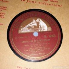 Discos de pizarra: DISCO DE PIZARRA MAX BYGRAVES HIS MASTER'S VOICE LA VOZ DE SU AMO. Lote 220557400