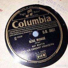 Discos de pizarra: DISCO DE PIZARRA RAY MARTIN AND HIS CONCERT ORCHESTA COLUMBIA. Lote 220558766