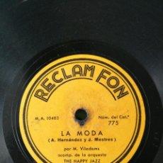 Discos de pizarra: LOTE DE DOS DISCOS DE 78 RPM DE PUBLICIDAD DE LAS CASAS RECLAM FON Y QUEROL. Lote 220637030