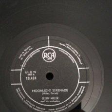 Discos de pizarra: DISCO DE PIZARRA 78RPM GLENN MILLER/IN THE MOOD/MOONLIGHT SERENADE. Lote 221138320