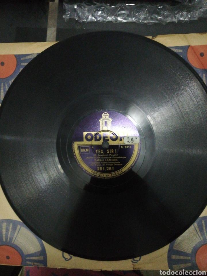 Discos de pizarra: Disco de pizarra 78rpm-Zarah leander- Yes, Sir! /Il Pleut Sans Treve! - Foto 3 - 221412723