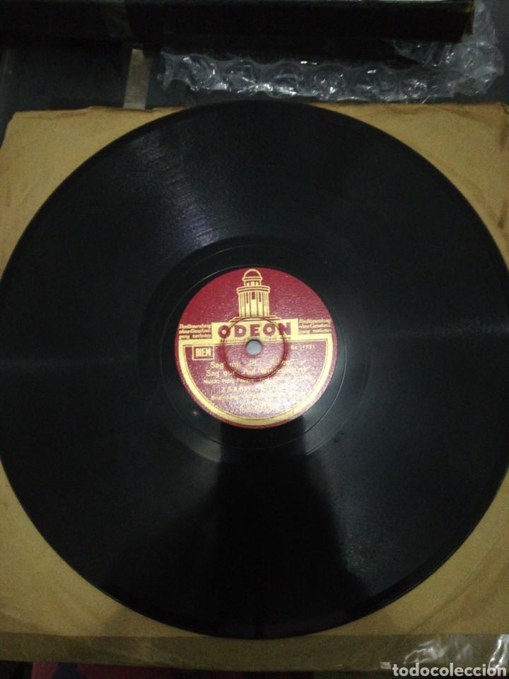 Discos de pizarra: Disco de pizarra 78rpm-Zarah Leander-Sagt mir nicht Adieu/Cheri Du Bist Heut - Foto 3 - 221412982