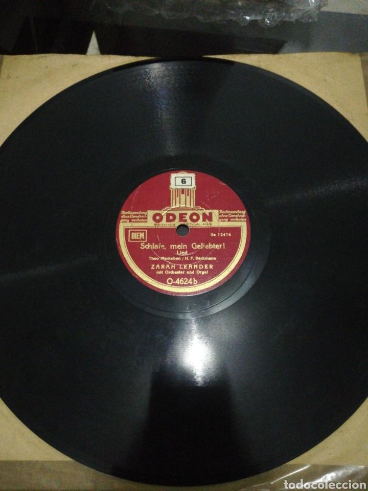 DISCO DE PIZARRA 78RPM-ZARAH LEANDER-NUR NICHT AUS LIEBE WEINEN/SCHLAFE, MEIN GELIEBTER! (Música - Discos - Pizarra - Solistas Melódicos y Bailables)