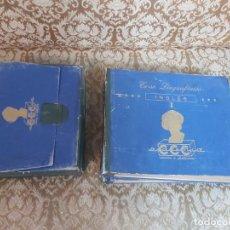 Discos de pizarra: CURSO LINGUAFÓNICO DE INGLES, I Y II. ACADEMIA CCC. CON SUS LIBROS.. Lote 221551663