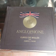 Discos de pizarra: ANGLOPHONE.CURSO DE INGLÉS. CHOWN. DISCOS DE PIZARRA.. Lote 221556981