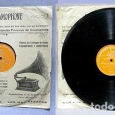 Discos de pizarra: UN BALLO IN MASCHERA (VERDI) - SOLO UNA CARA - MATTIA BATTISTINI - D-PIZARRA-0344. Lote 221769607