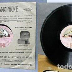 Discos de pizarra: ENRICO CARUSO - UN BALLO IN MASCHERA (VERDI) - SOLO UNA CARA - D-PIZARRA-0346. Lote 221772456