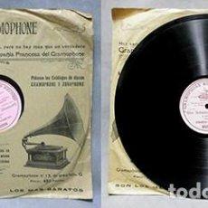 Discos de pizarra: DON SEBASTIAN (DONIZETTI). IN TERRA SOLO - ENRICO CARUSO - D-PIZARRA-0357. Lote 221889073