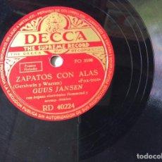 Discos de pizarra: DISCO DE PIZARRA. ZAPATOS CON ALAS Y SALGO DE PASEO. POR GUUS JANSEN. Lote 222026792